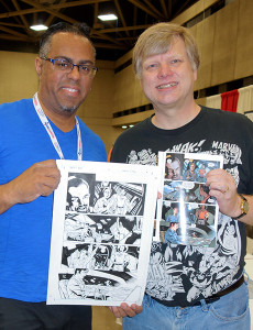 Me with Jeanty and my Firefly artwork
